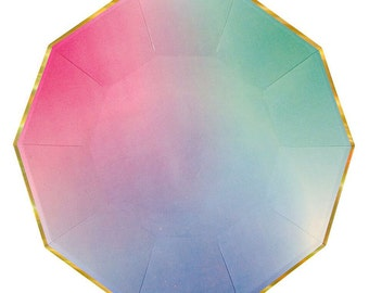 Large Ombre Plates