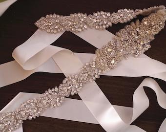 rhinestone sash applique bridal sash belt
