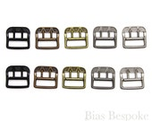 Set of Antique Style Small Metal Buckles, 5 Colors Available
