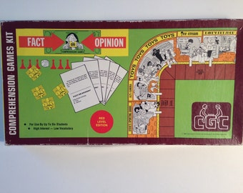 Fact Or Opinion Vintage Educational Board Game 1980