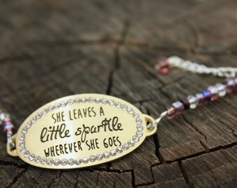 Beaded Saying Bracelet