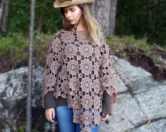 Crochet Poncho Pattern , womens poncho , poncho pattern