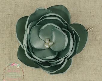 Sage Wedding - Sage Green - Sage Hair Flower - Sage Bridesmaids - Sage Flower Girls - Sage Hair Clip - Sage Flower Brooch - Sage Accessory