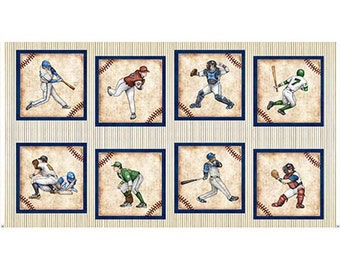 """24"""" x 44"""" Grand Slam Cream Baseball Player Picture Patches by the panel"""