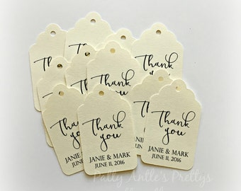 Wedding Thank You Tags, Personalized Thank You Tags, Wedding Tags, Wedding Thank You Tags, Grazie Tags