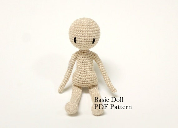 Amigurumi Sheep Patterns : Amigurumi Doll Basic Doll Pattern Crochet by PinkMouseBoutique