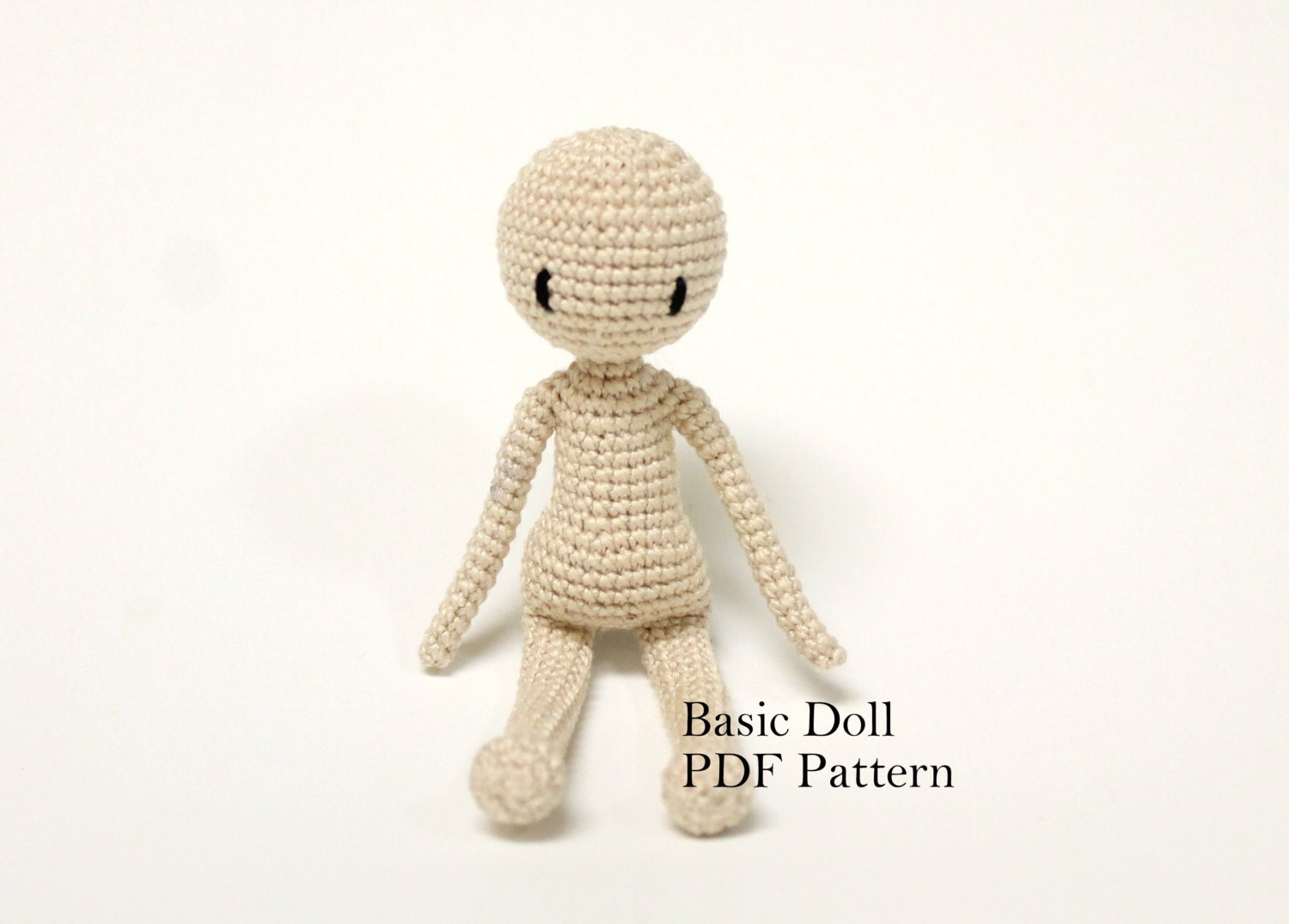Amigurumi Crochet Doll Patterns : Amigurumi Doll Basic Doll Pattern Crochet by PinkMouseBoutique