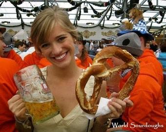 """Bavarian """"Munich Pretzel"""" Octoberfest Sourdough Starter"""