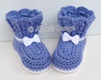 Crochet Bootie Pattern - Crochet Pattern 165 - Lace Top Baby Booties - Baby Booties Pattern - Baby Girl Booties - Newborn - Baby Slippers