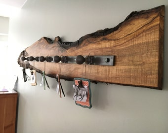 Live Edge Wall Decor with Restored Hardware