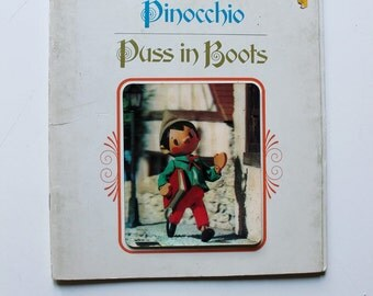 Pinocchio, Puss in Boots, A Twin Puppet Storybook 1971