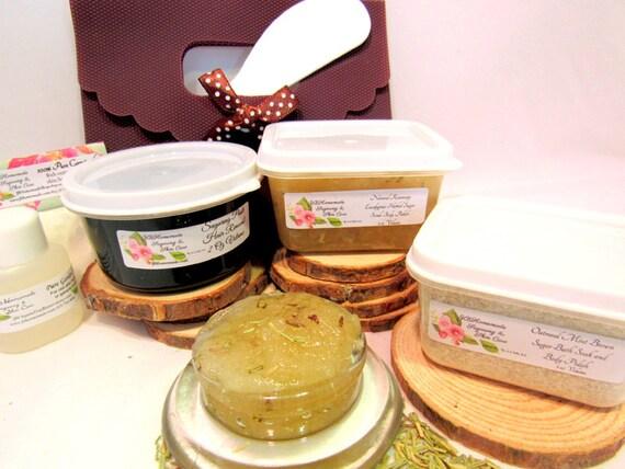 Natural Eucalyptus Rosemary Scrub Sugaring Paste Deluxe Starter Kit