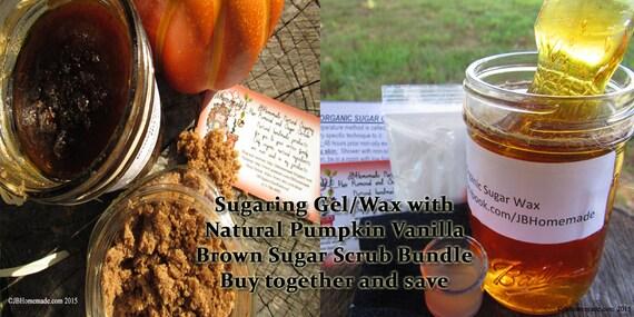 Sugaring Wax & Pumpkin Vanilla Sugar Scrub Body Polish Bundle Save 10% by JBHomemadeShop