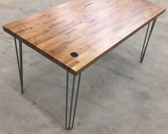 The 'Tanto' Industrial Office Desk - Hair pin legs
