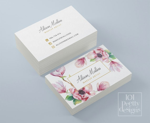 Floral business card design flowers business card template il570xn cheaphphosting Gallery