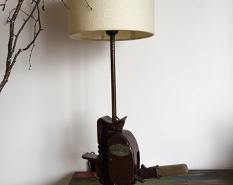 An old Jack adapted American lamp