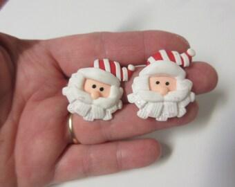 FREE SHIPPING! Santa Stud Earrings-Christmas Earrings