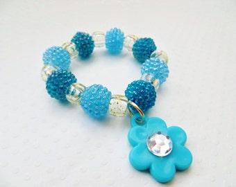 Little Girl Charm Bracelet, Toddler Charm Bracelet, Little Girl Stretchy Bracelet, Toddler Stretchy Bracelet, Valentine's Gift