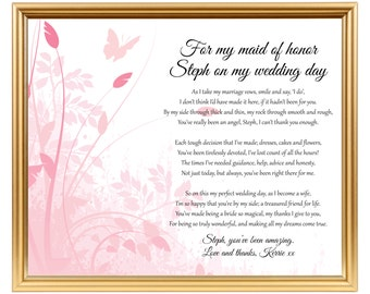 Gift For Maid Of Honor
