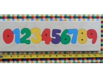 Number Puzzle, Children Puzzle, Wood Puzzle, Educational Puzzle, Puzzle, Children Wood Puzzle