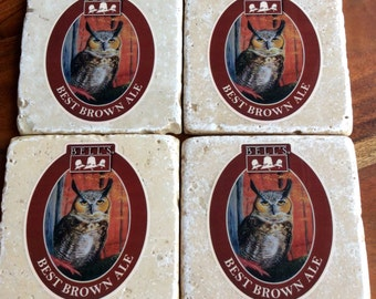 Bell's Best Brown Ale Beer Coasters
