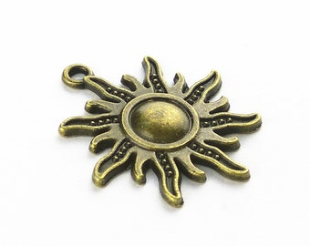 10pcs 25x28mm Sun Charms Pendant Findings MY
