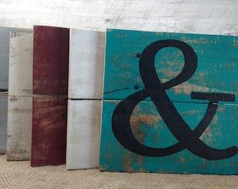 Rustic monogram letter signs, monogram signs, alphabet decor, pallet boards signs,customizable monogram set, monogram set, monogram pallets