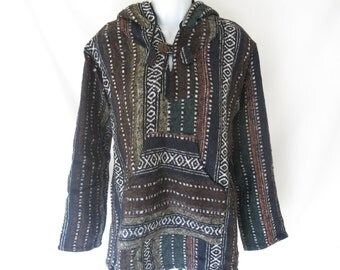 Fleece lined hoodie / jacket . Handmade .hippy gheri , festival , retro ,bohemian ,funky
