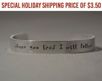 """Shop """"where you lead i will follow"""" in Jewelry"""