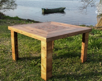 "Reclaimed wood coffee table ""Vaira"""