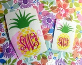 Pineapple with Monogram decal