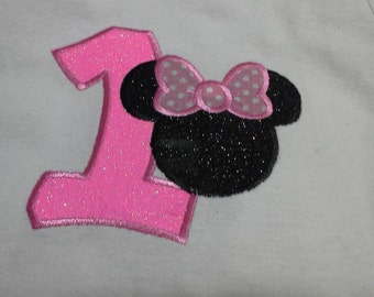 Minnie mouse Birthday t-shirt, minnie mouse first birthday t-shirt