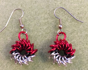 Pokeball Earrings/Pokemon Go/Chainmaille