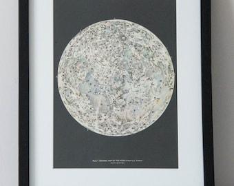 Framed 1959 Vintage Moon Print