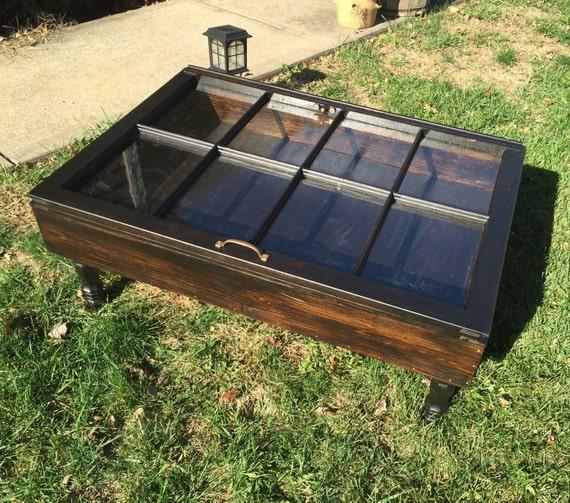 Glass Coffee Tables Etsy: Espresso Wood Shadow Box Coffee Table By SandJBargainVault