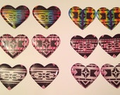 Native Print Heart Cabs