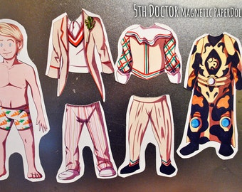5th Doctor (Doctor Who) Magnetic Paper Doll