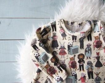 Twirl Dress // Toddler Dress // Baby Girl Dress // Animal Band // Organic Dress // Animal Band Dress // Woodland Dress