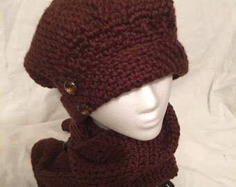 Chocolate Hat and Scarf