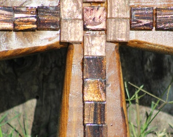 Small cross with glass tiles
