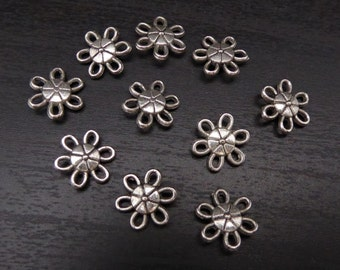 Connector Bead - Metal Flower - 20 Pieces (MFCB)