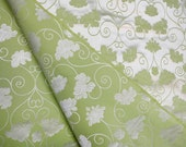 Lime or mint green and wh...