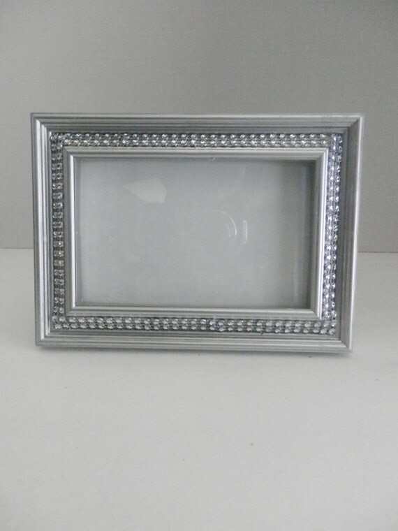 Picture Frame 5x7 Silver Rhinestone Picture Frame Bling