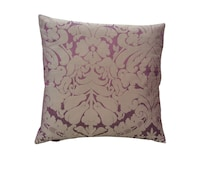 Stunning hand made Designer Silk Damask cushion covers in Aubergine and Antique Purple curtain fabric pillow case Home,Kitchen,Bedroom,Sofa