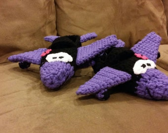 Crocheted Airplane Slippers