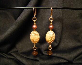 Crystal Copper Earrings