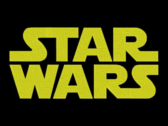 star wars embroidery font machine embroidery monogram font