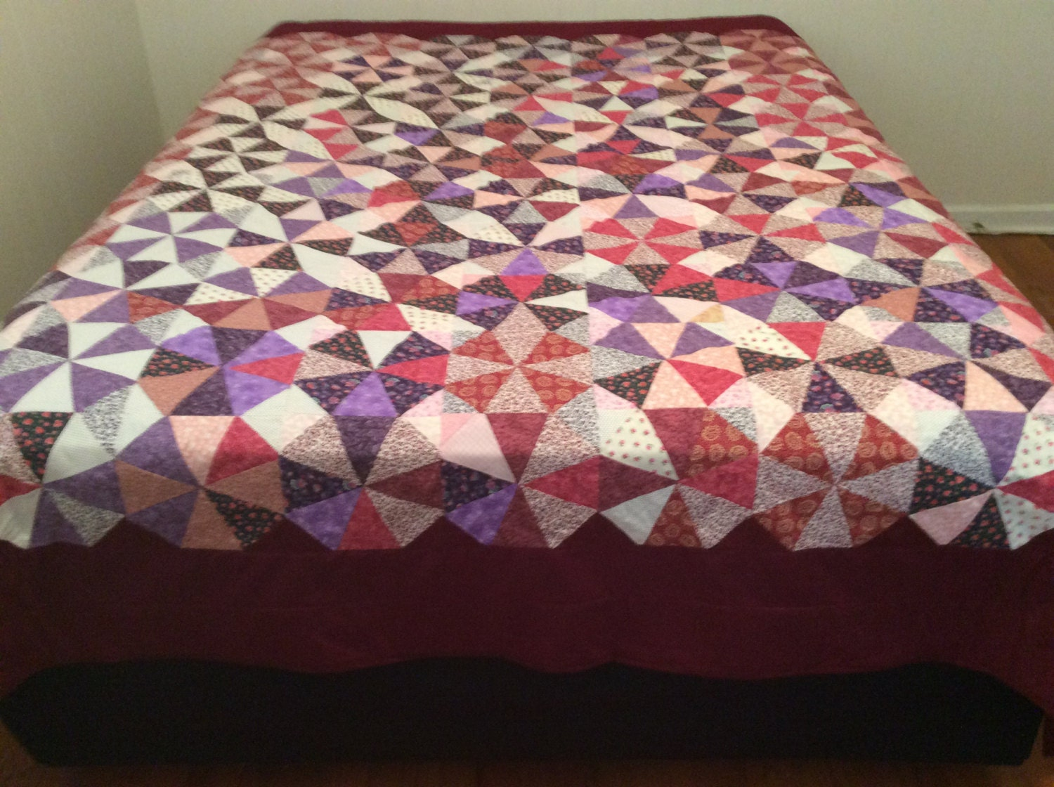 handmade quilts for sale handmade quilts for sale wine burgundy quilt circle of 4911