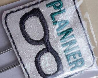 Teal Planner Nerd Geek Glasses Paper Clip