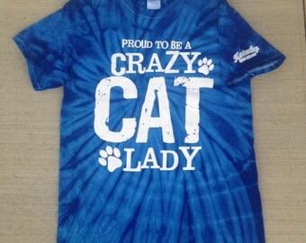 Tie-Dye Crazy Cat Lady